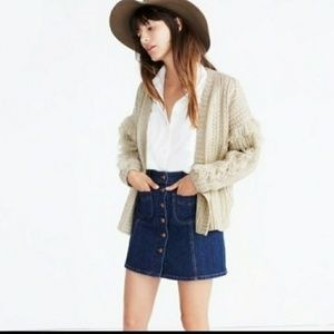 Madewell Fringe cable knit cardigan